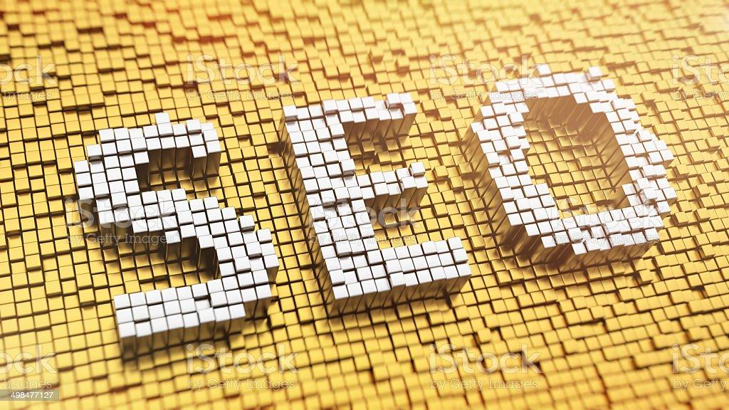 Pixelated SEO stock photo