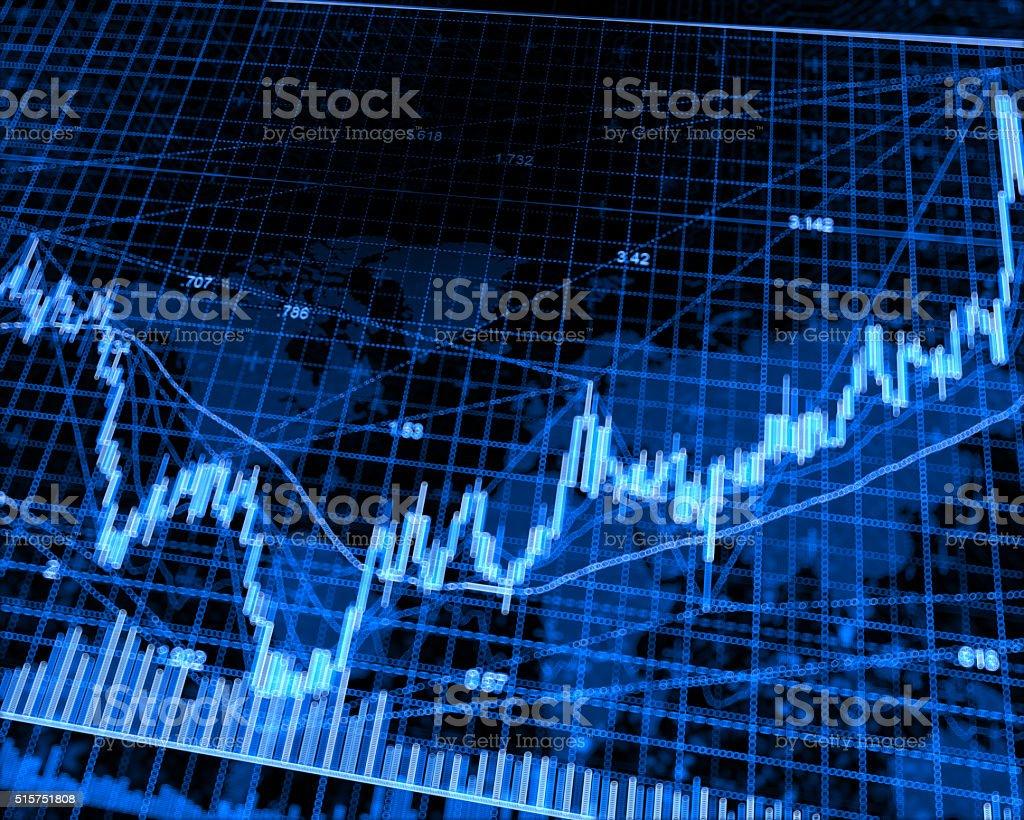 Pixelated Stock Market stock photo