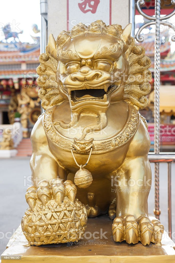 Pixiu mascot animal of china, Chinese lucky animal mascot stock photo