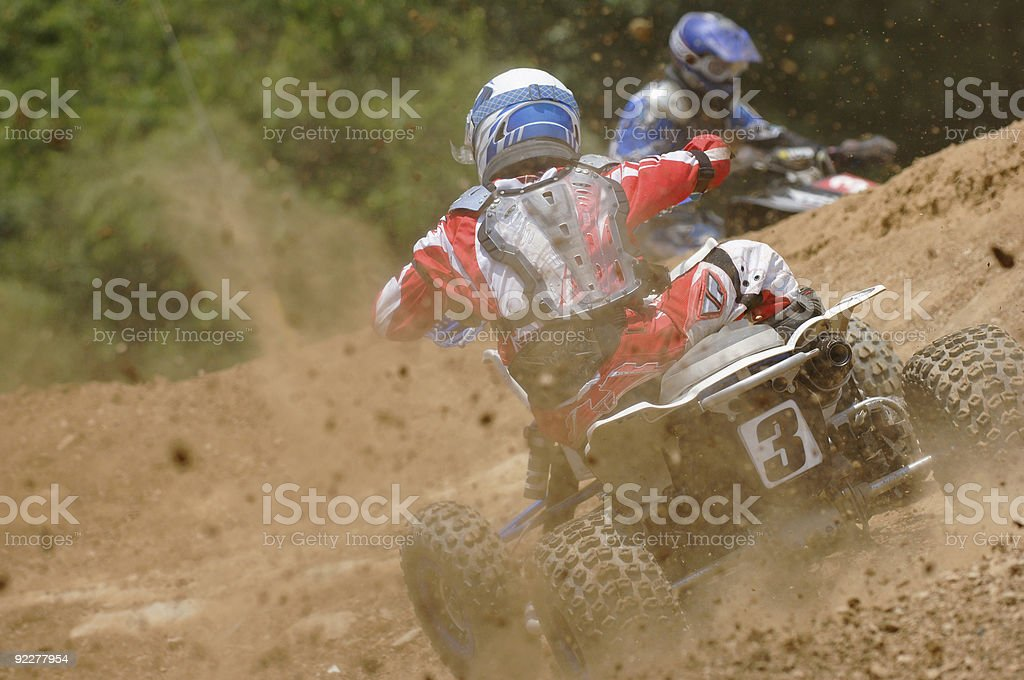 Pixstarr motocross collection of quad bikes in action royalty-free stock photo