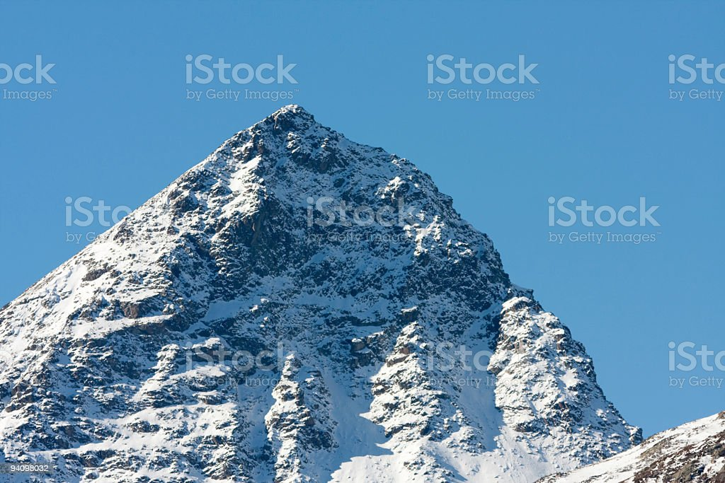 Piz Albana near St.Moritz, Engadine, in late October, Switzerland royalty-free stock photo