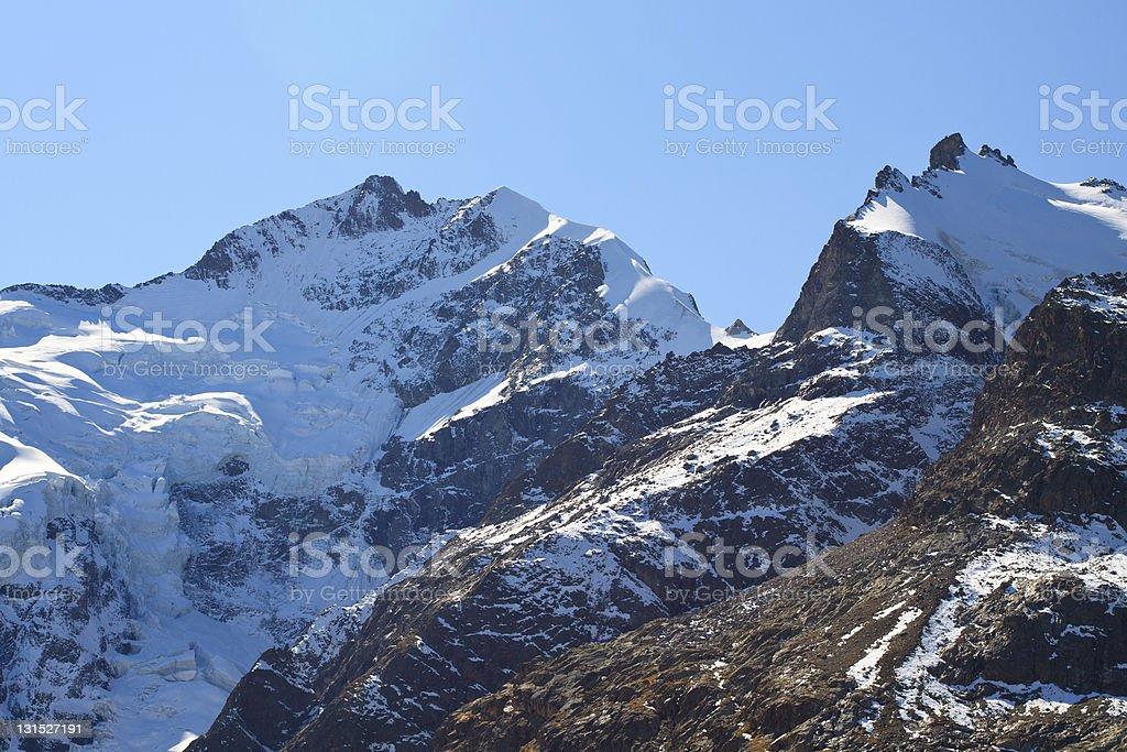 Piz Bernina royalty-free stock photo