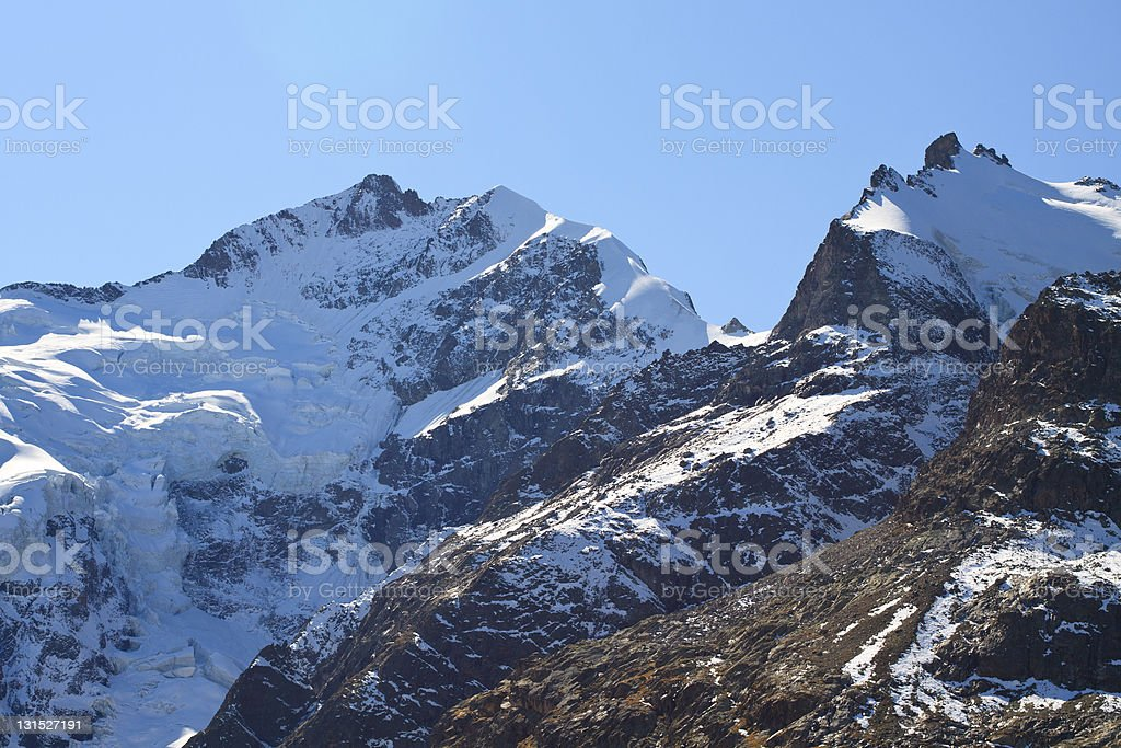 Piz Bernina stock photo