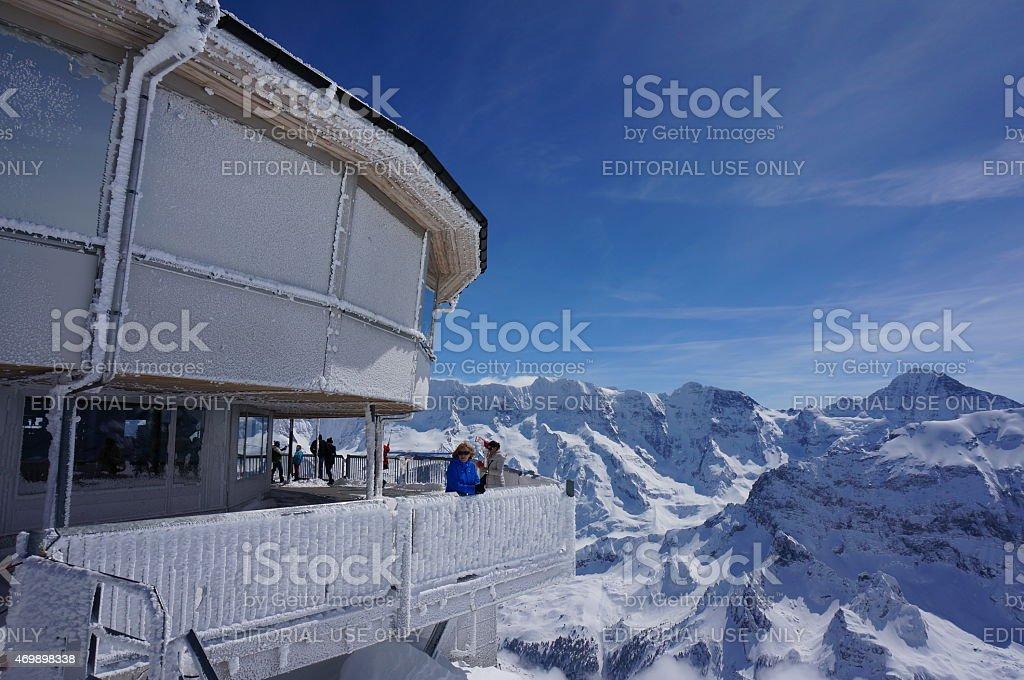 Piz Gloria, Switzerland stock photo