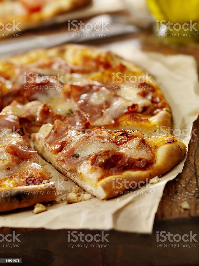 Pizza al Prosciutto stock photo