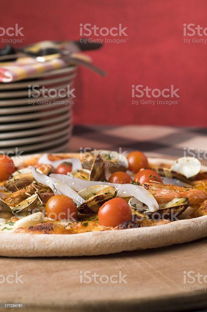 Pizza allo scoglio photo libre de droits
