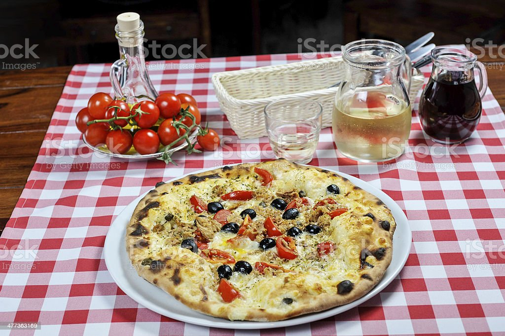 Pizza and other additives royalty-free stock photo