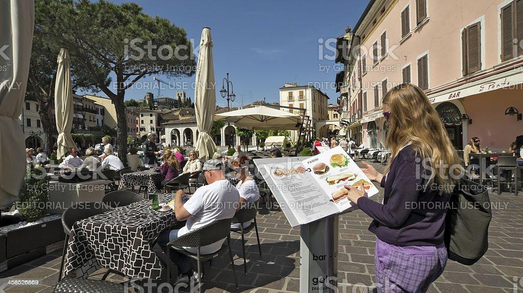 Pizza and panini menu royalty-free stock photo