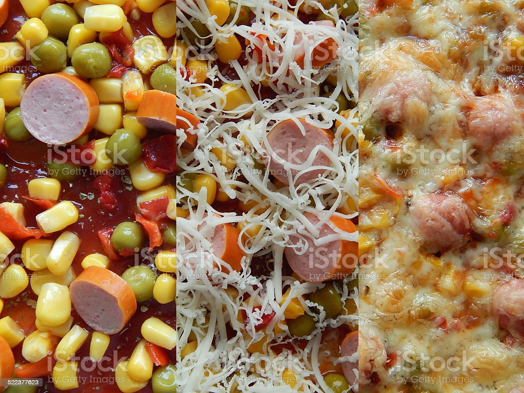 pizza baking phase royalty-free stock photo