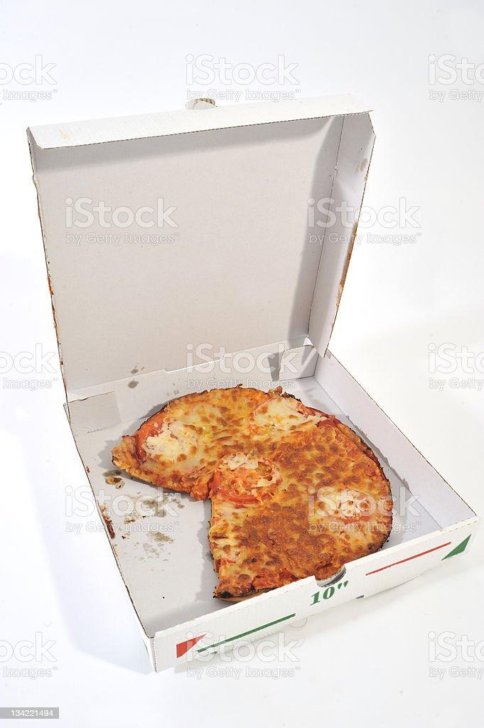 Pizza & box royalty-free stock photo
