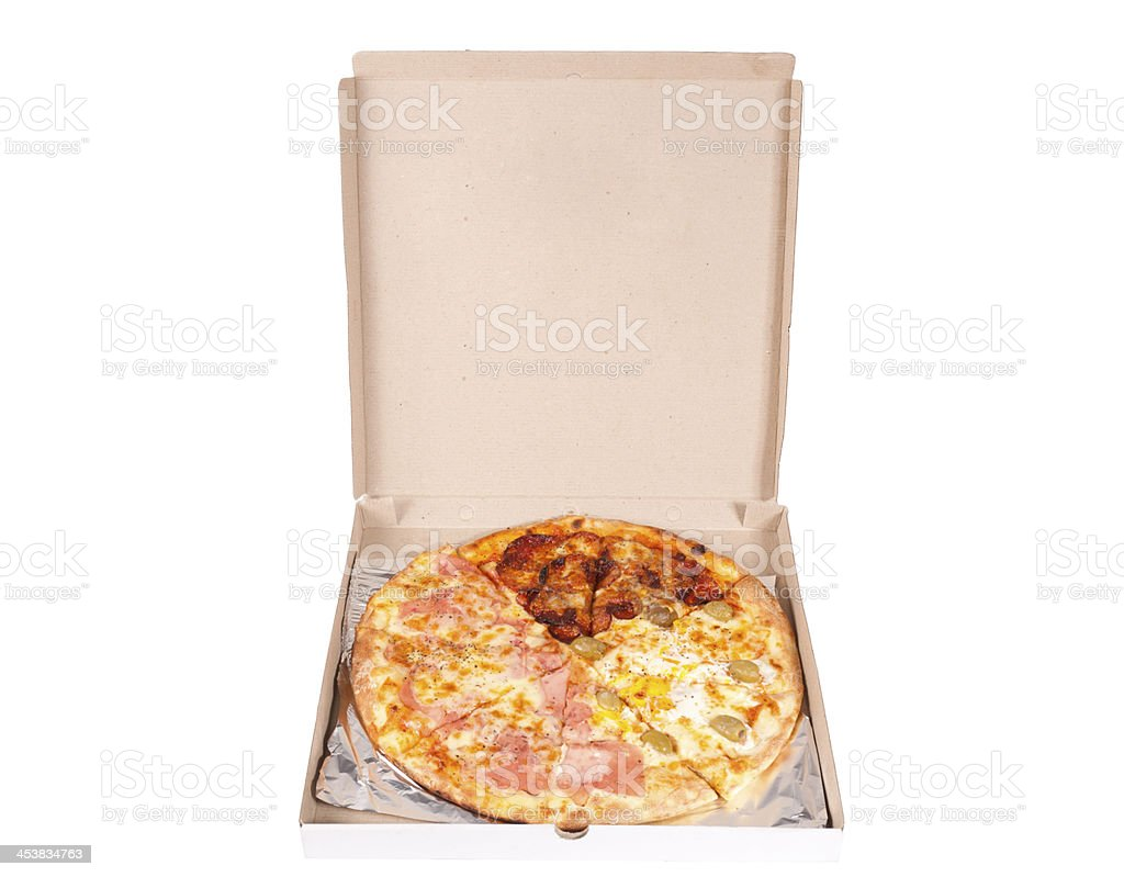 Pizza box stock photo