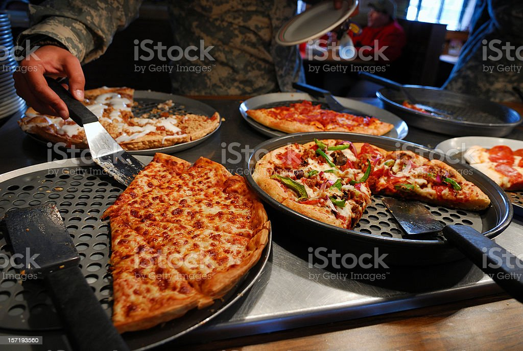 Pizza Buffet stock photo