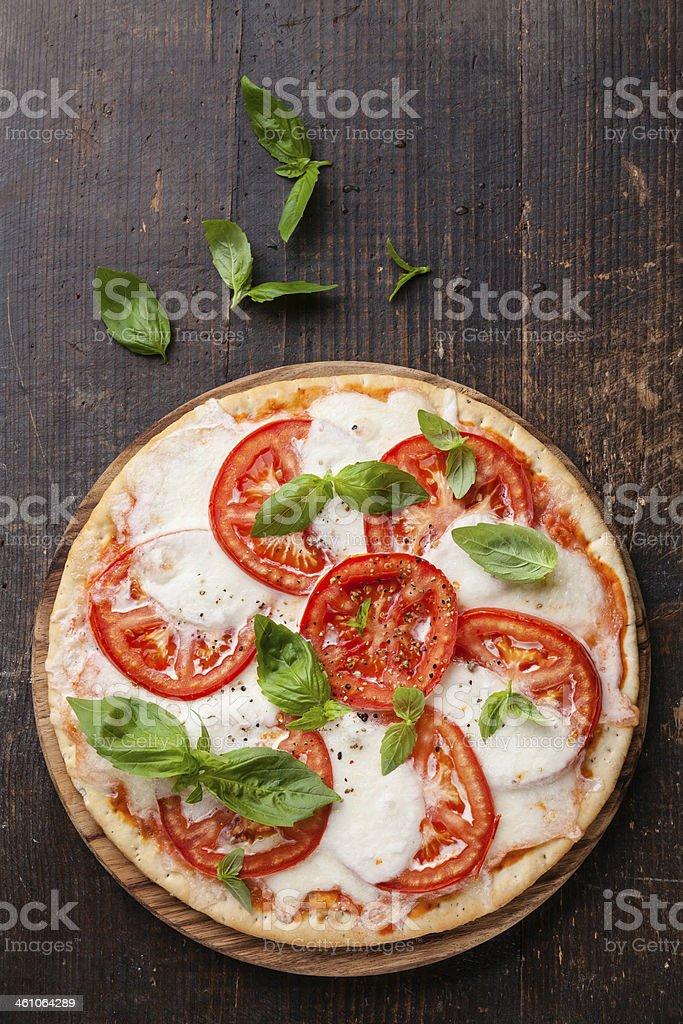 Pizza Caprese stock photo