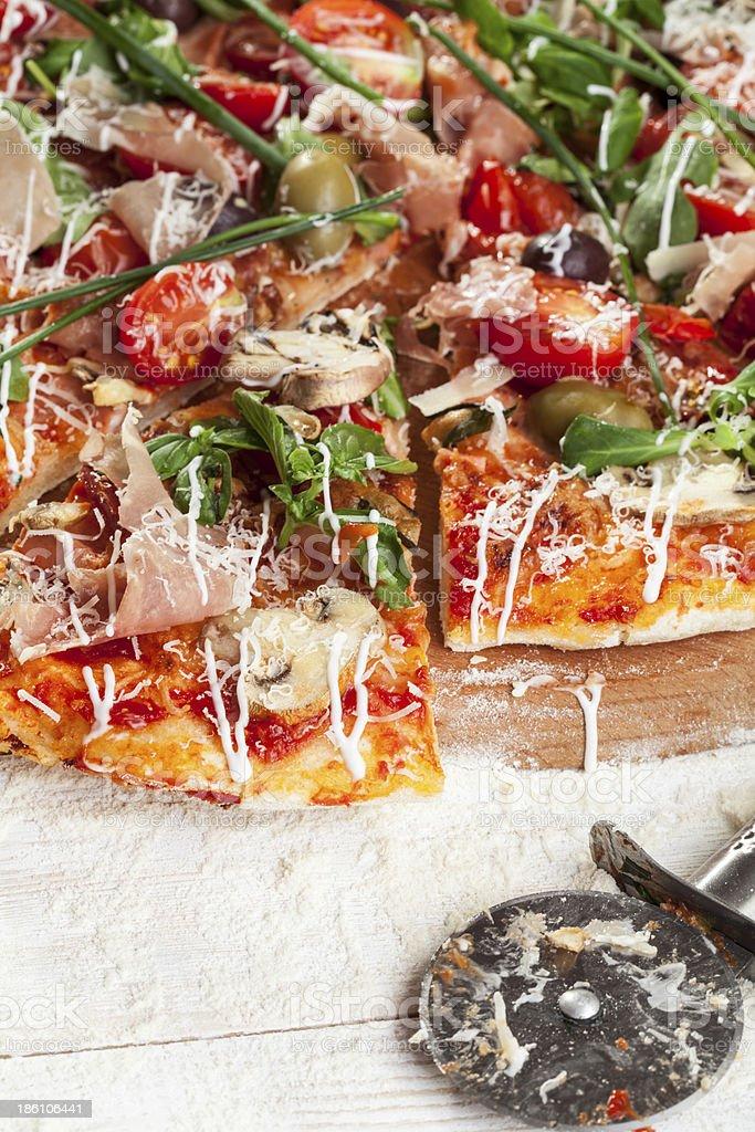 pizza - close up royalty-free stock photo