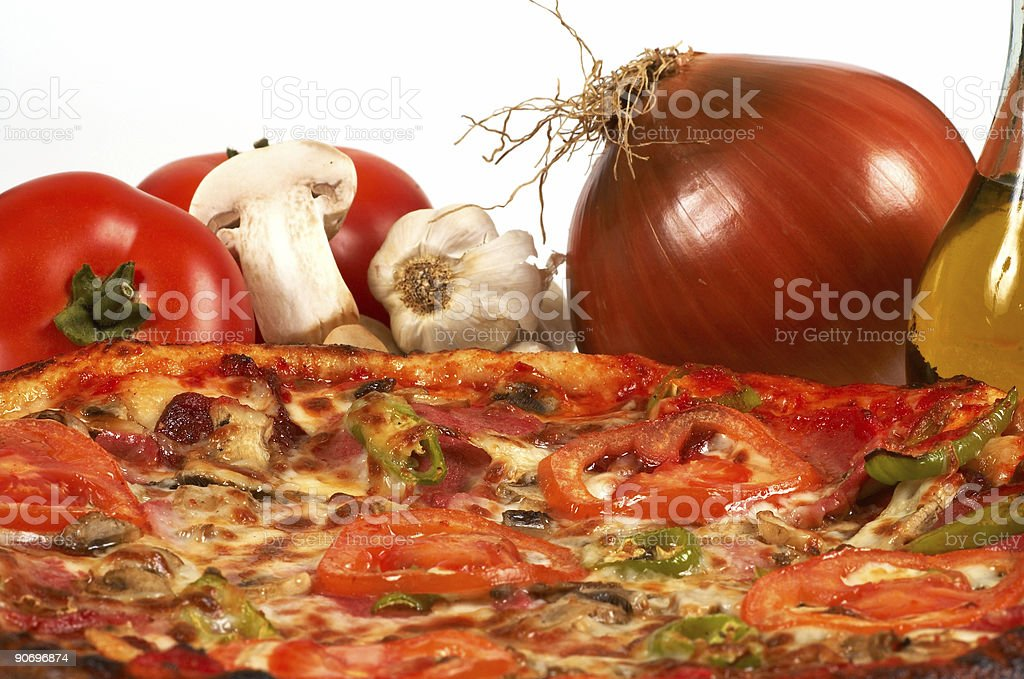 pizza close up royalty-free stock photo