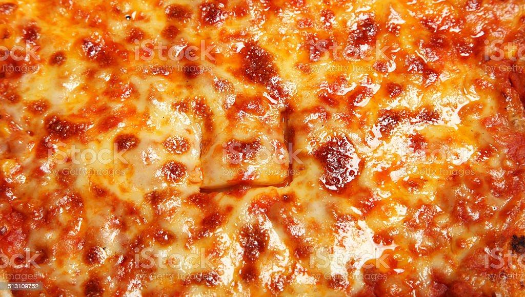 Pizza close-up stock photo