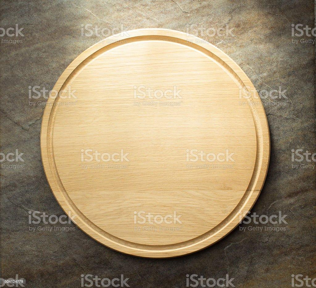 pizza cutting board stock photo