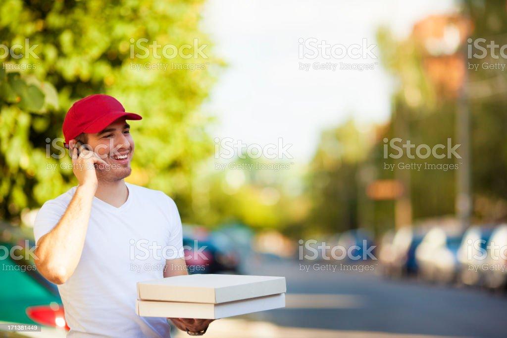 Pizza Delivery Person. stock photo