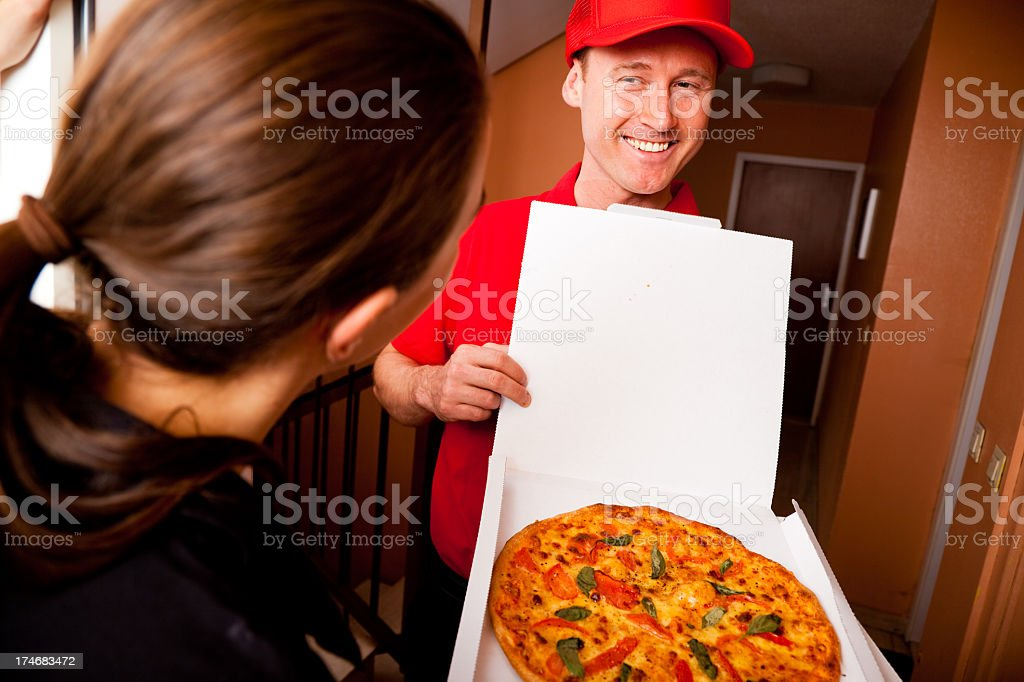 pizza delivery royalty-free stock photo