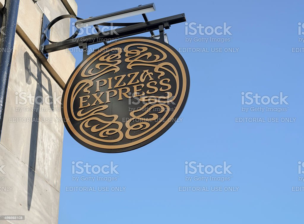 Pizza Express Sign stock photo