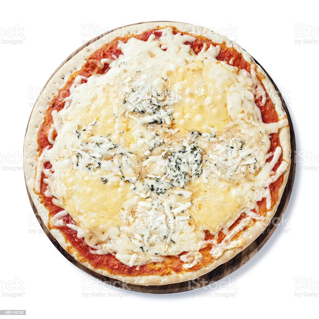 Pizza quattro fromaggi stock photo