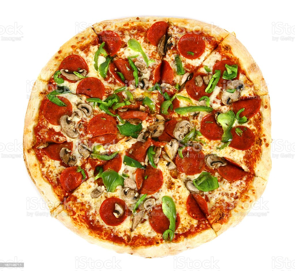Pizza from the top - Deluxe royalty-free stock photo