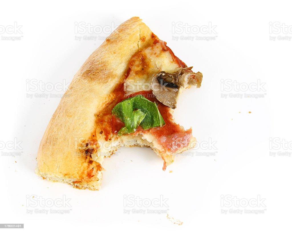 Pizza - Half Eaten Slice stock photo