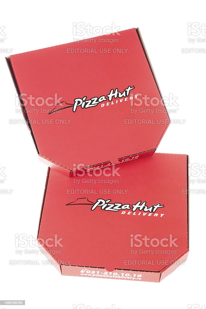 Pizza Hut Delivery Box royalty-free stock photo