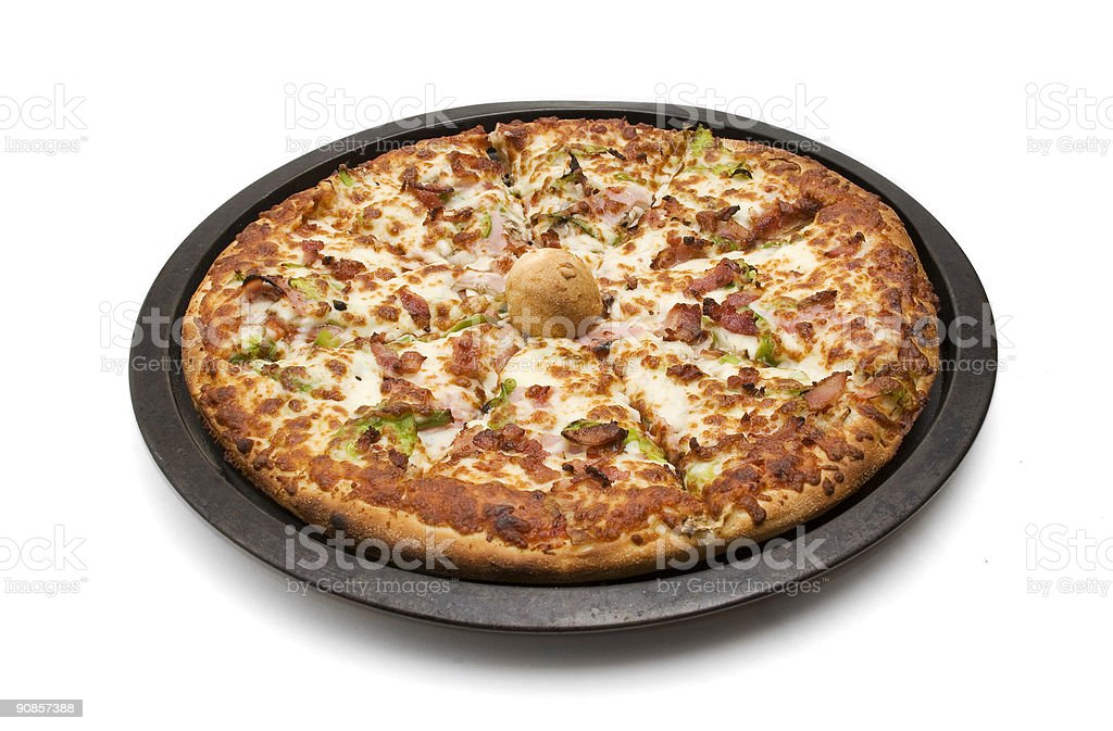 Pizza in Pan royalty-free stock photo