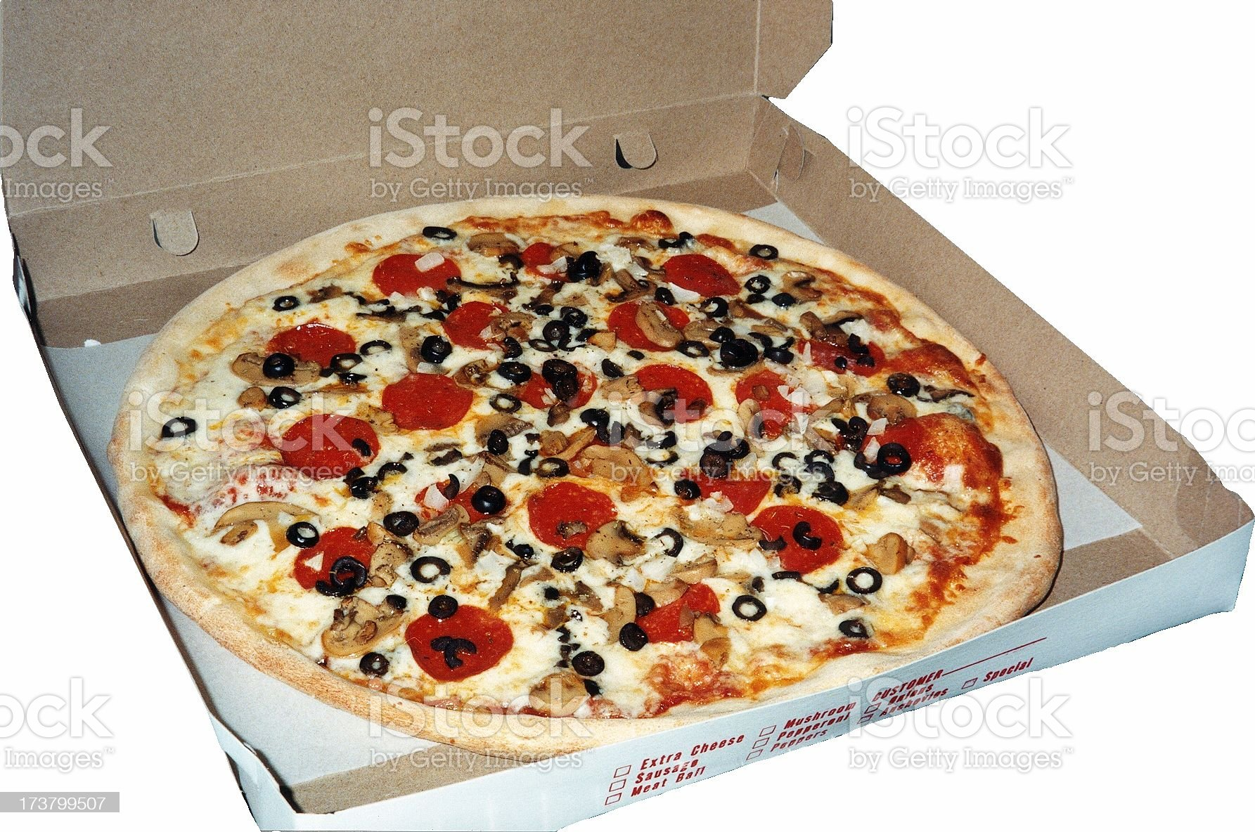 Pizza in the box royalty-free stock photo