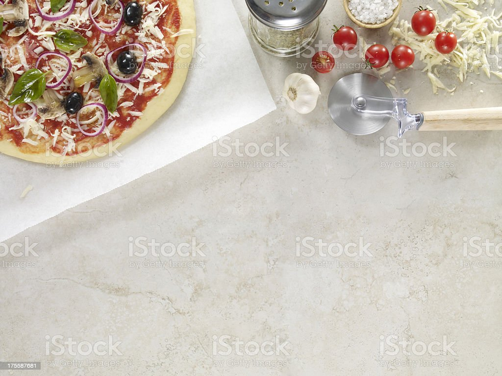 Pizza Ingredients stock photo