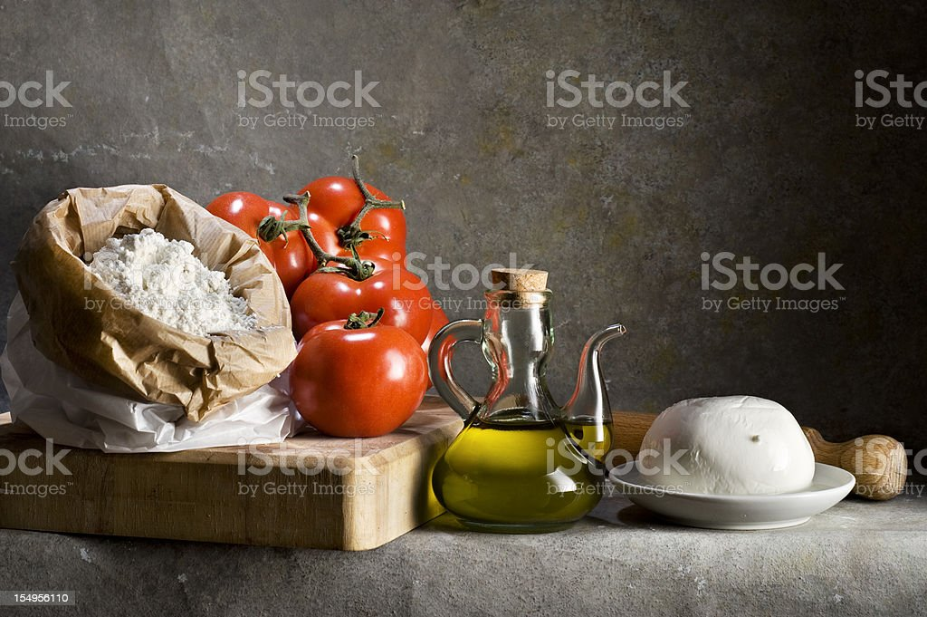 Pizza Ingredients.Color Image stock photo