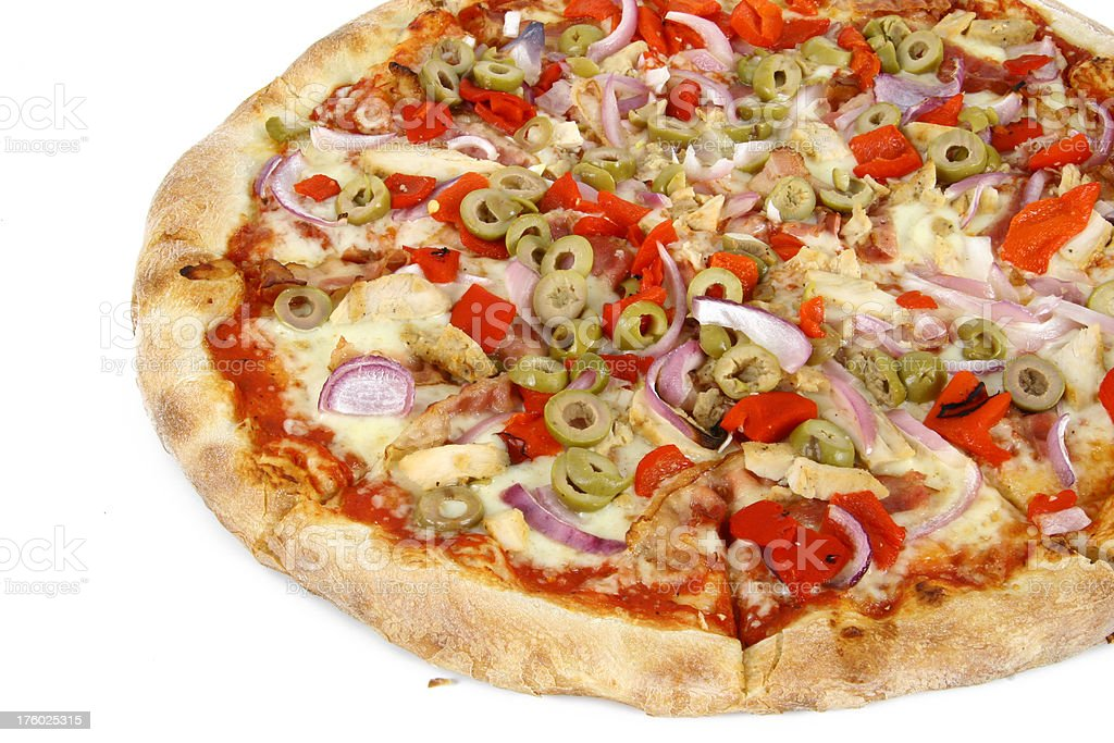 pizza isolated 04 royalty-free stock photo