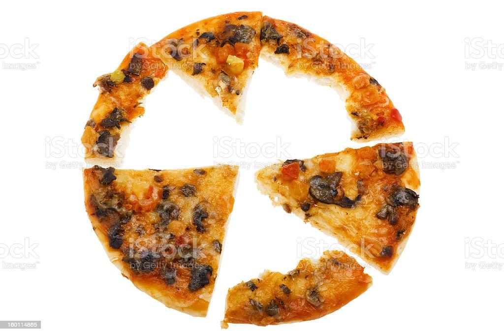 pizza isolated on white background royalty-free stock photo