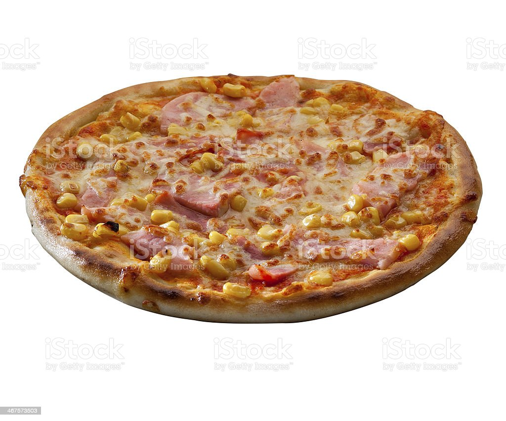 Pizza isolated over a white background stock photo