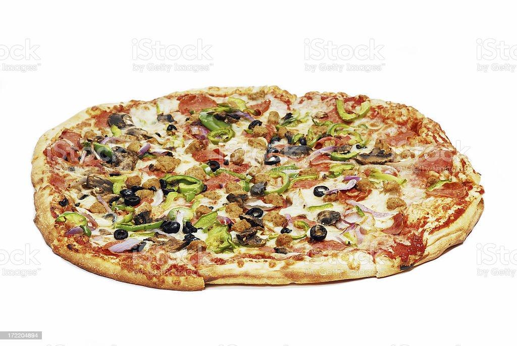 Pizza Isolated royalty-free stock photo