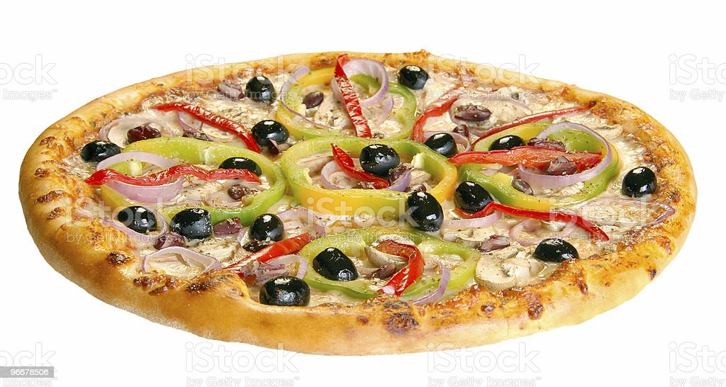 Pizza isolated royalty-free stock photo