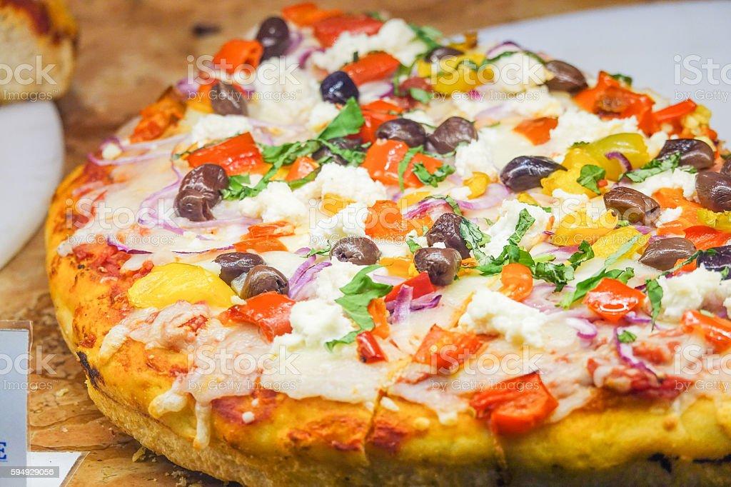 Pizza - Italian food in a pizzeria Lizenzfreies stock-foto