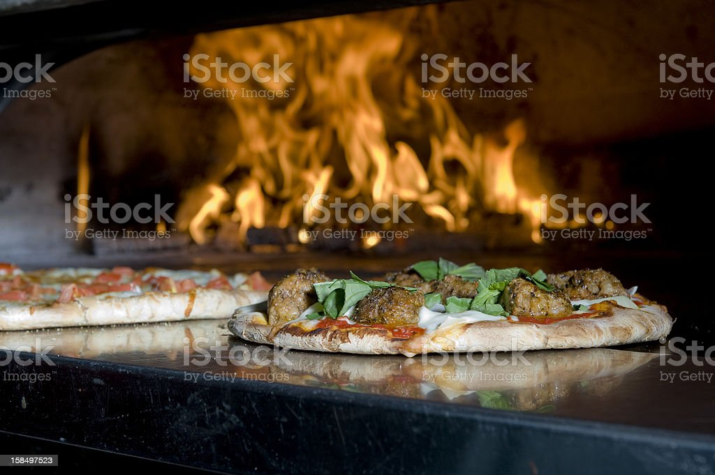 Pizza just out of the oven stock photo