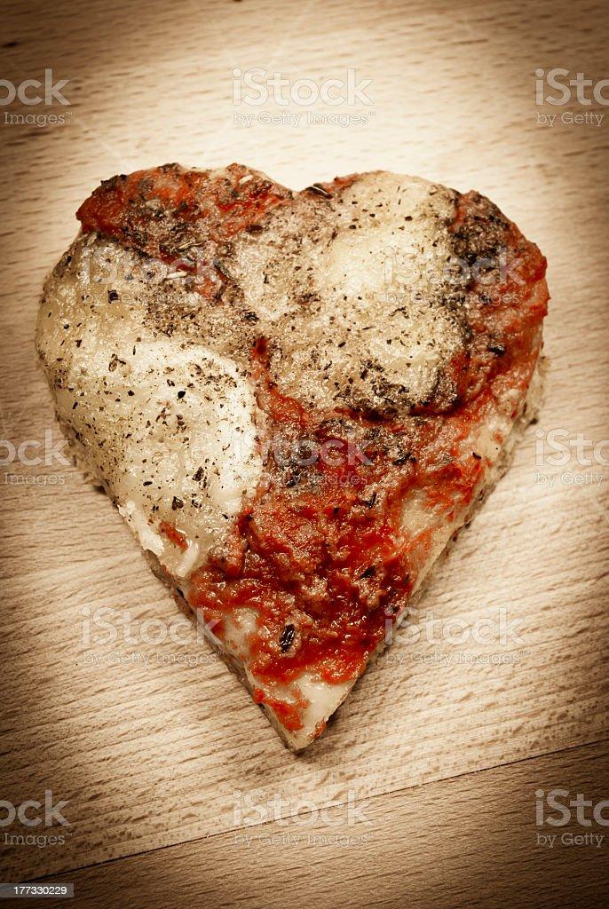 Pizza love heart royalty-free stock photo