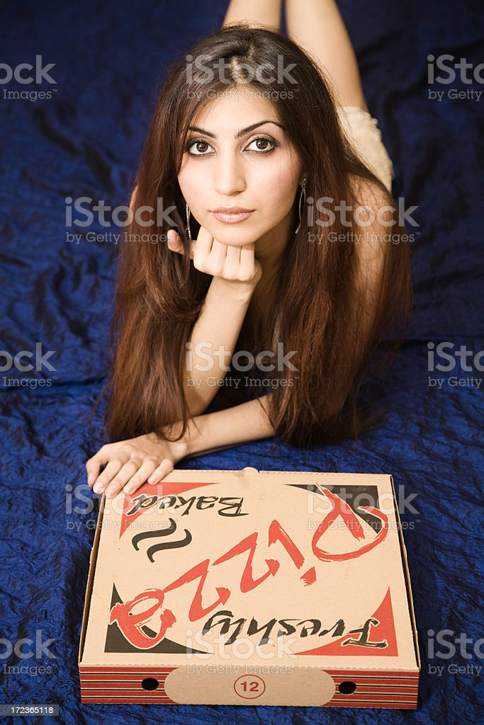 Pizza lover royalty-free stock photo