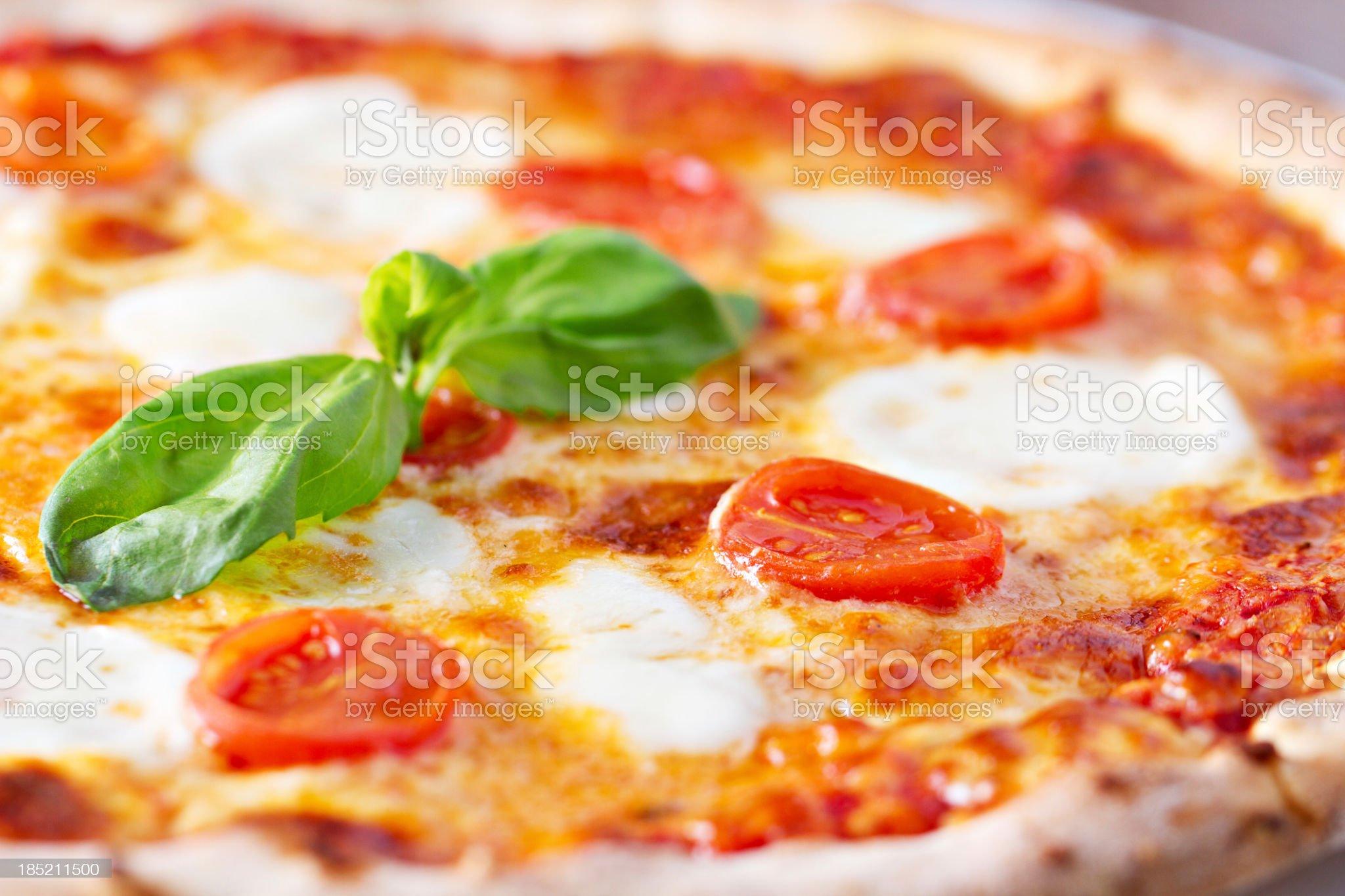 Pizza margherita royalty-free stock photo