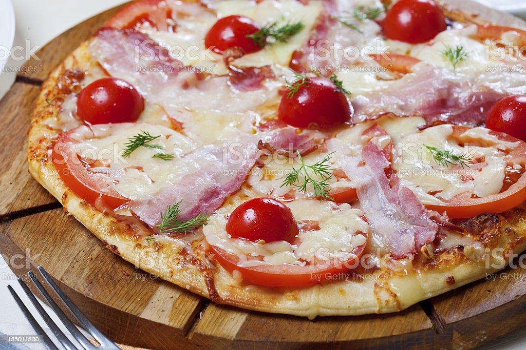 Pizza Modena royalty-free stock photo