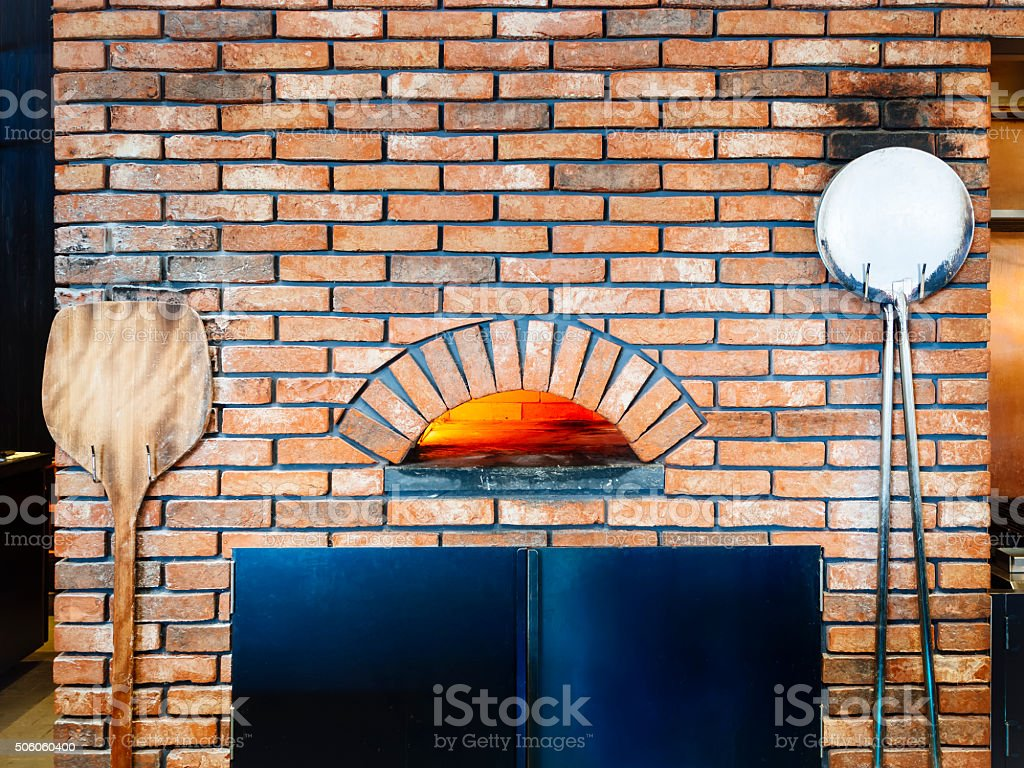 Pizza oven Brick fire Italian cooking Tradition Restaurant stock photo