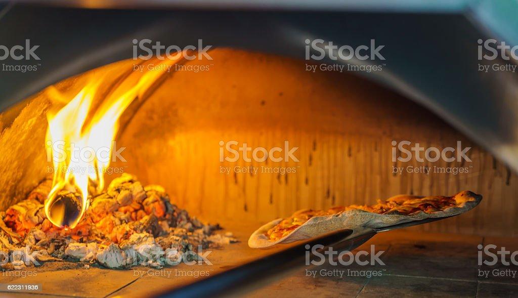 Pizza oven stock photo