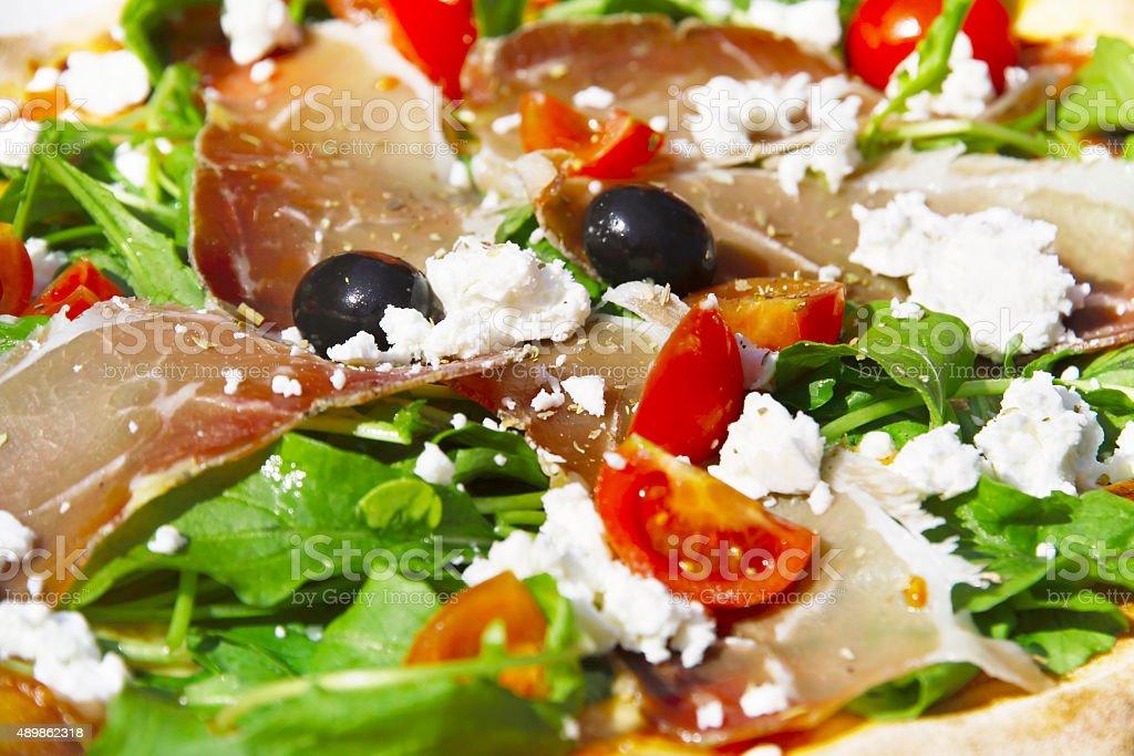Pizza Parma stock photo
