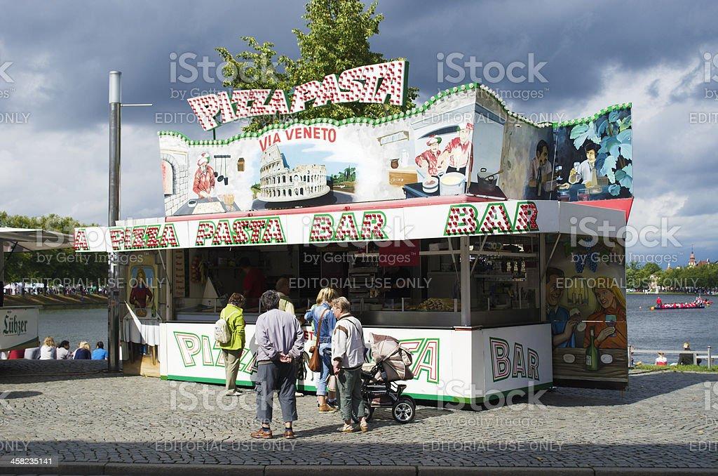 Pizza Pasta royalty-free stock photo