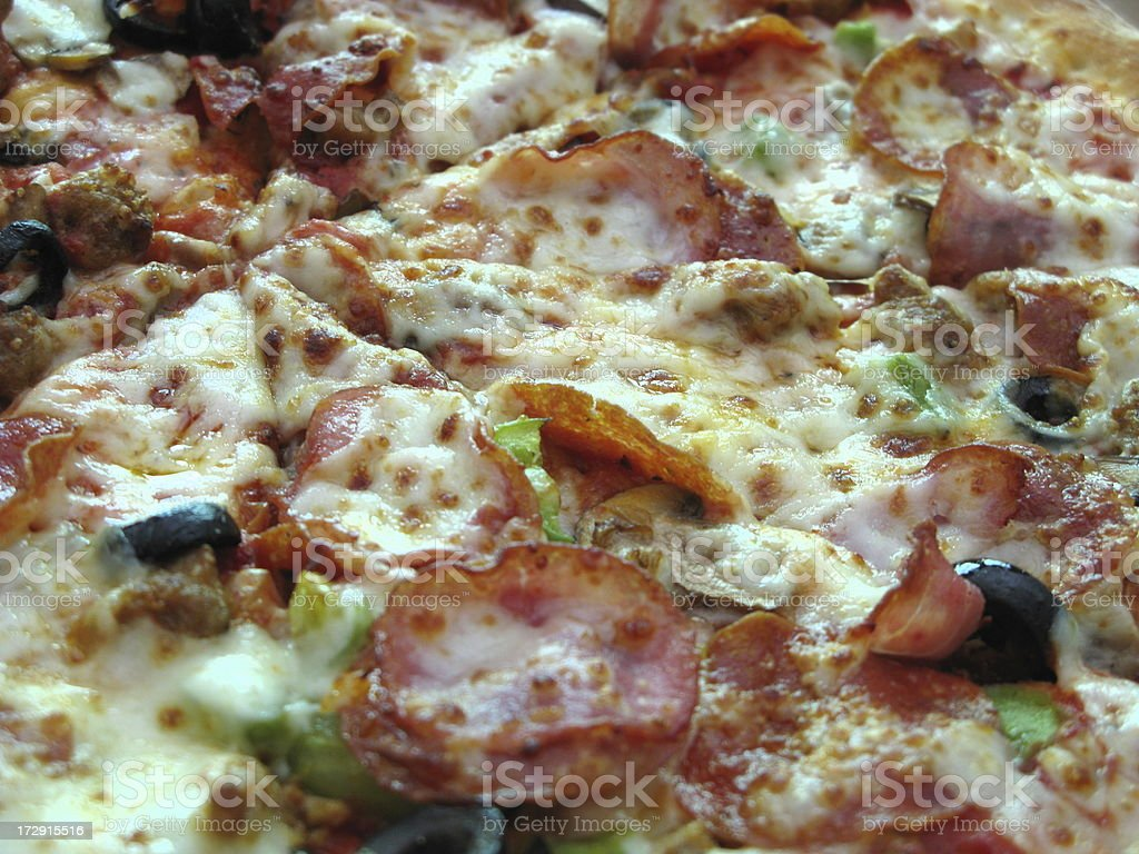 Pizza Pepperoni Close Up royalty-free stock photo