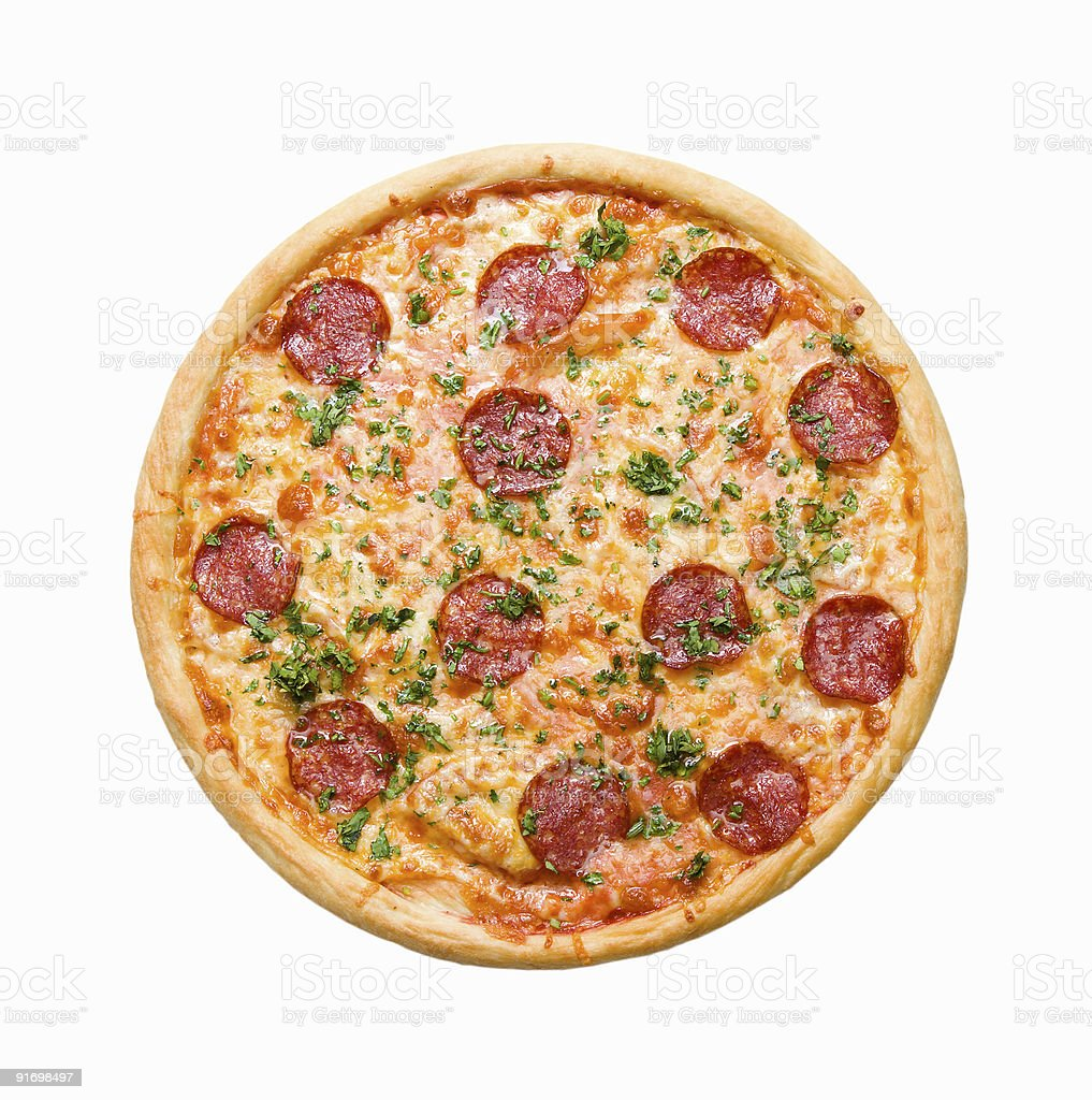 Pizza Pepperoni  isolated royalty-free stock photo