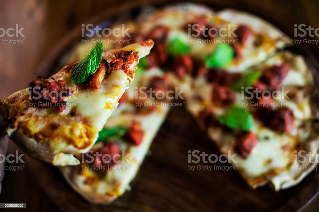 Pizza (skinny) stock photo